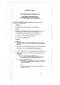 Abatement of Nuisances – Bylaw 2010 05