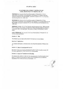 Interim Development Control – Bylaw 2003 05